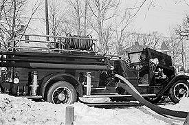 Delivery test of Ensign-Bickford's 1935 American LaFrance pumper.